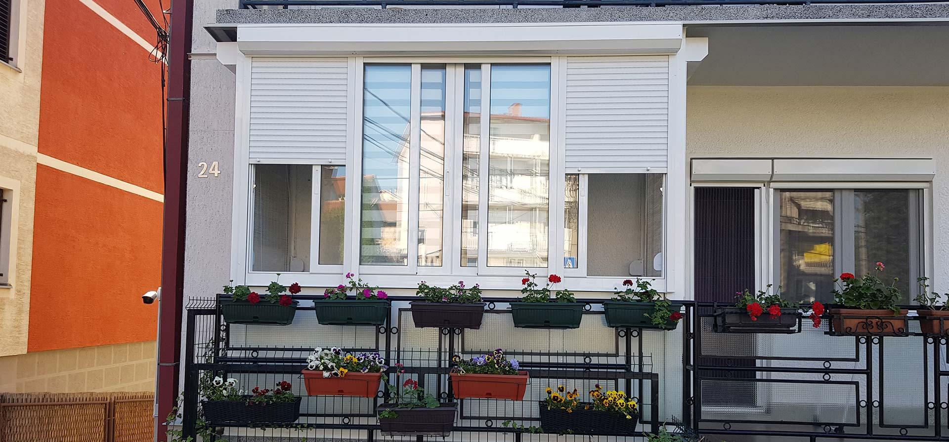 alu stolarija zastakljivanje terase za stan u Žarkovu